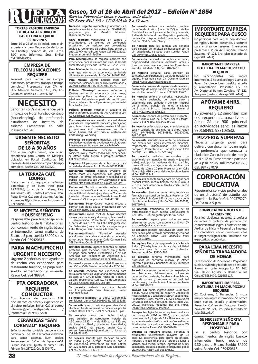 Edición 1854 by Rueda de Negocios - issuu