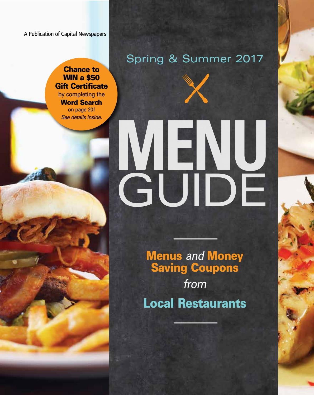 menu guide spring u0026 summer by madison com issuu