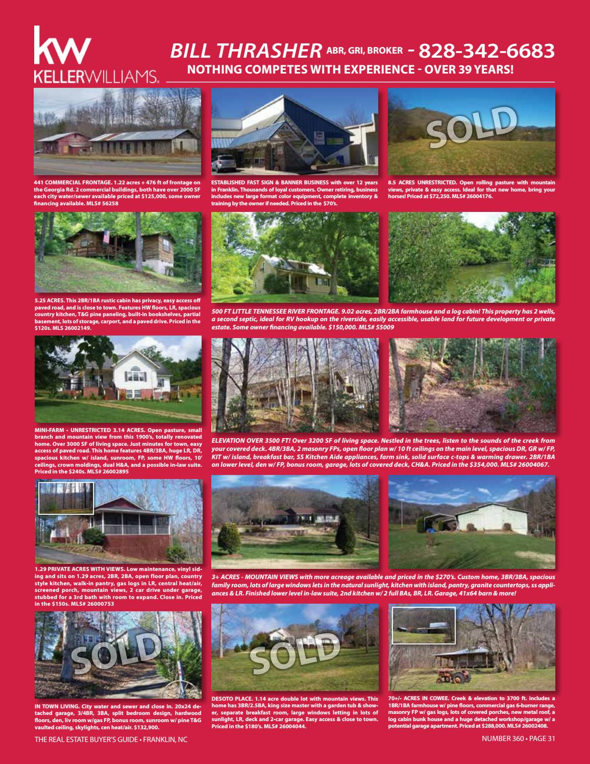 The Real Estate Buyer's Guide #360 - Franklin, NC by R - issuu
