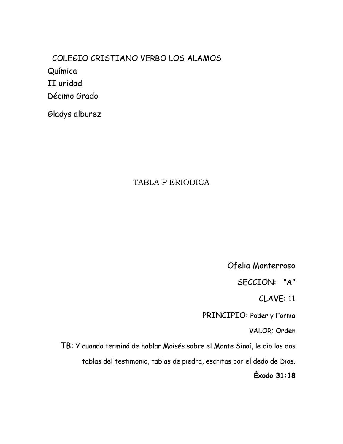 Tabla periodica by ofelia issuu urtaz Image collections