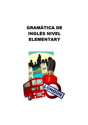 Gramatica Ingles Nivel Elemental By Jobper Empleos Issuu
