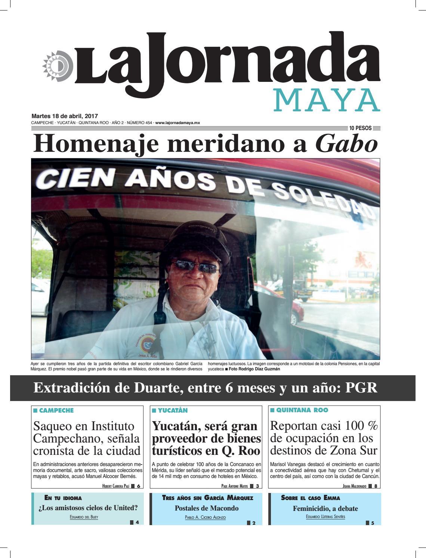 La Jornada Maya · Martes 18 de abril, 2017 by La Jornada Maya - issuu