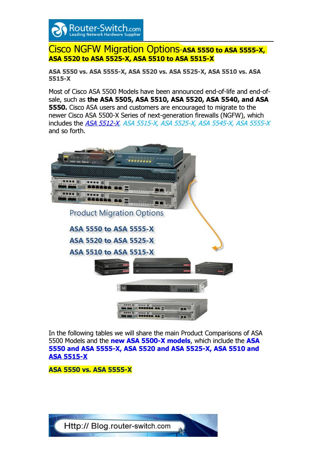 Cisco asa 5500 x series migration options asa 5555 x, asa