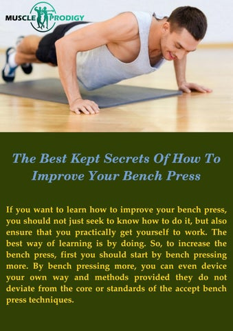 Awesome The Definitive Guide To Increasing Your Bench Press By Ocoug Best Dining Table And Chair Ideas Images Ocougorg