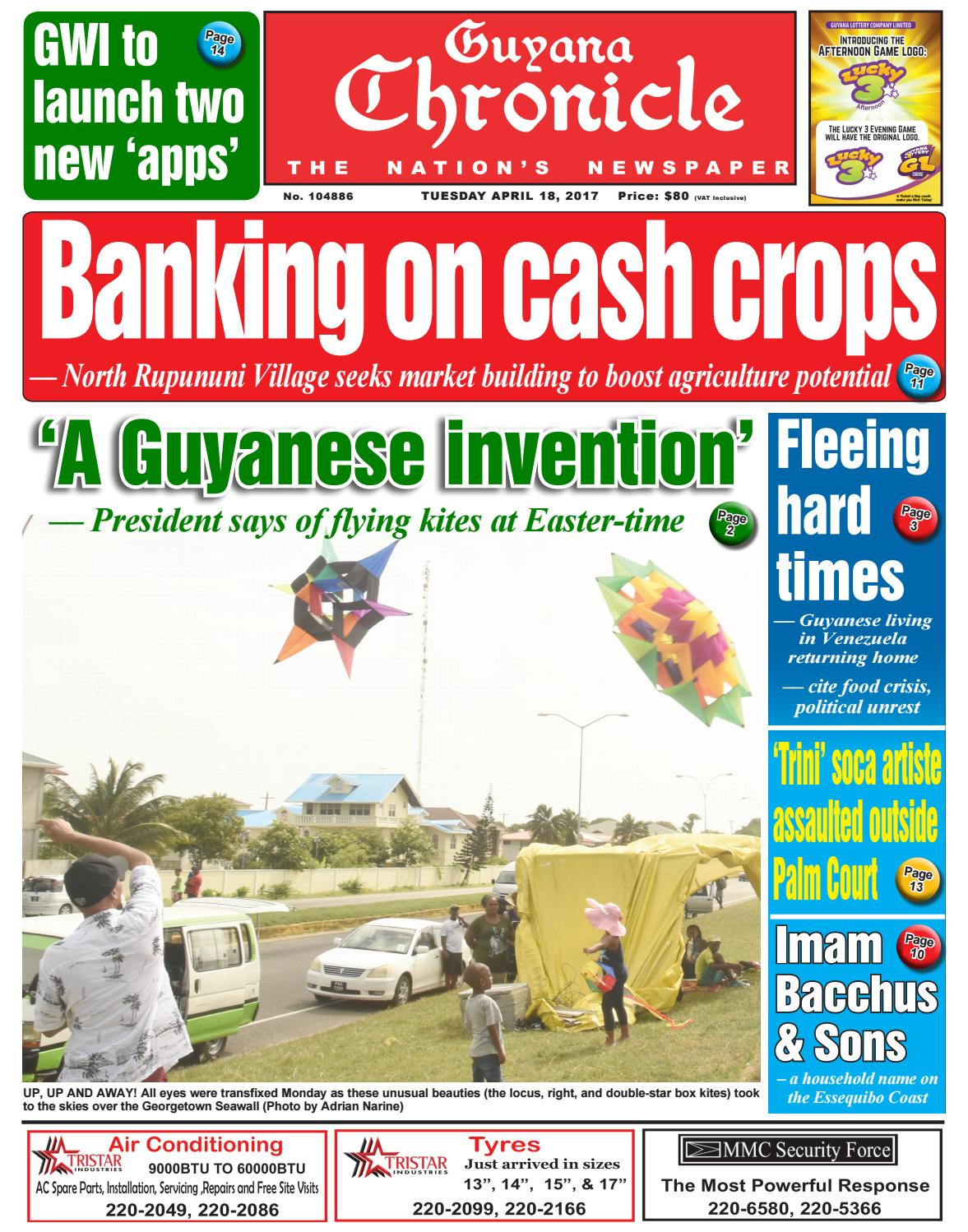 Guyana Chronicle E-Paper 18 04 2017 by Guyana Chronicle E