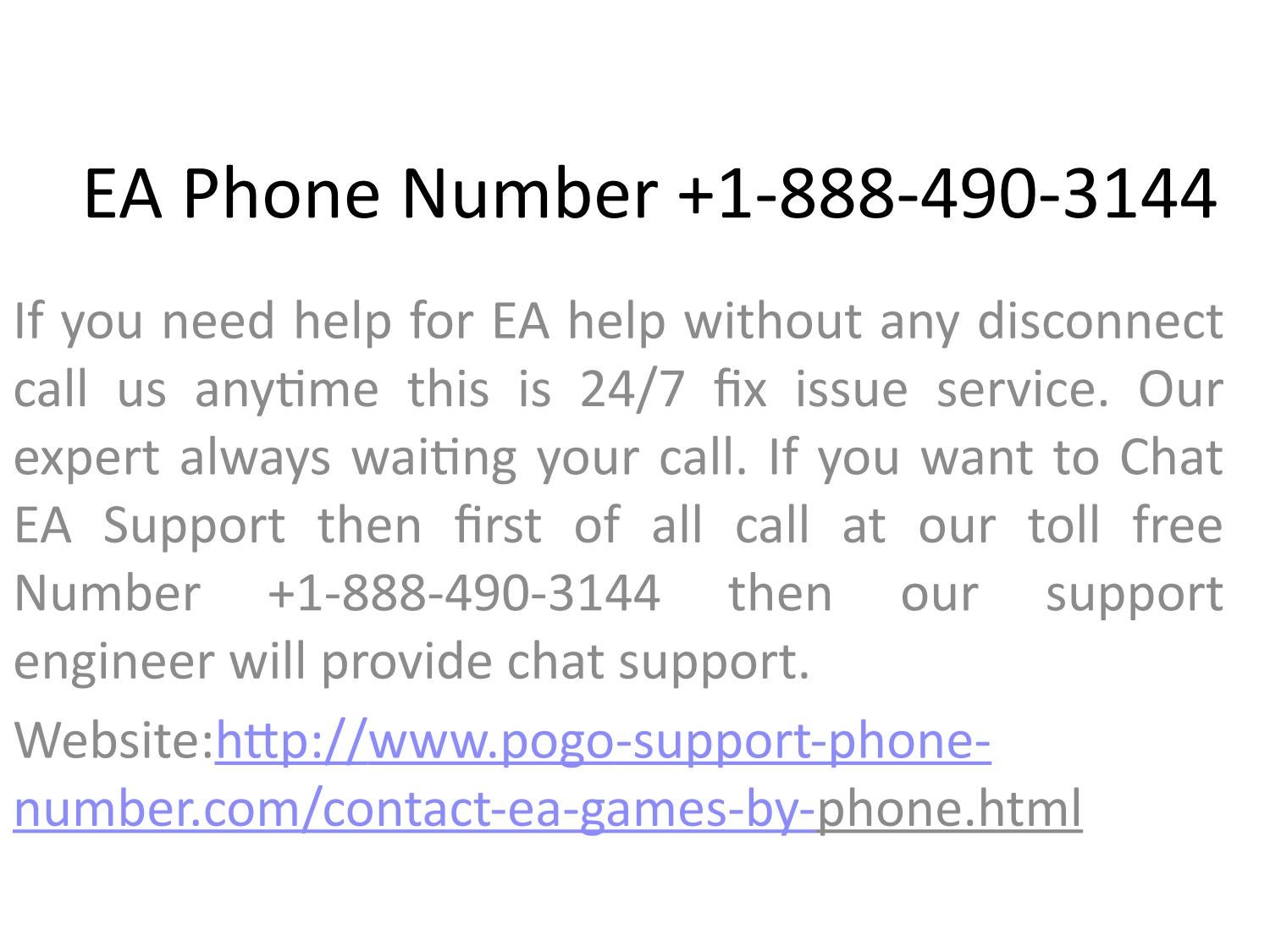 Ea phone number 1 888 490 3144 by pogosupport - issuu