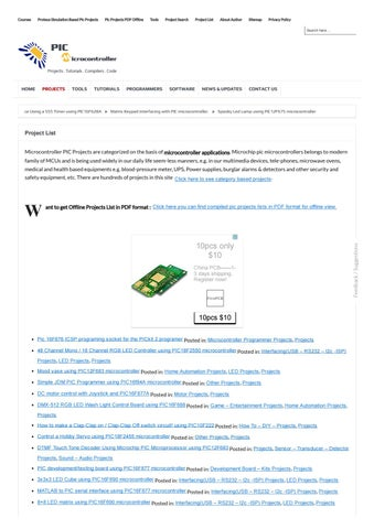 Project list 871 pic microcontroller by Ashraf - issuu