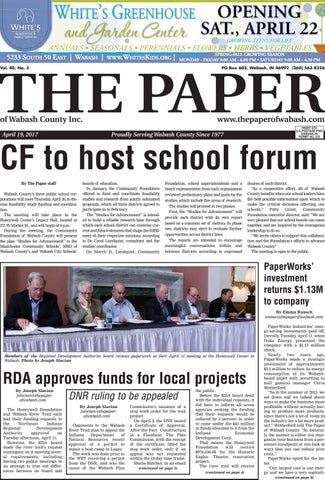 The Paper of Wabash County - April 19, 2017, Issue by The Paper of ...
