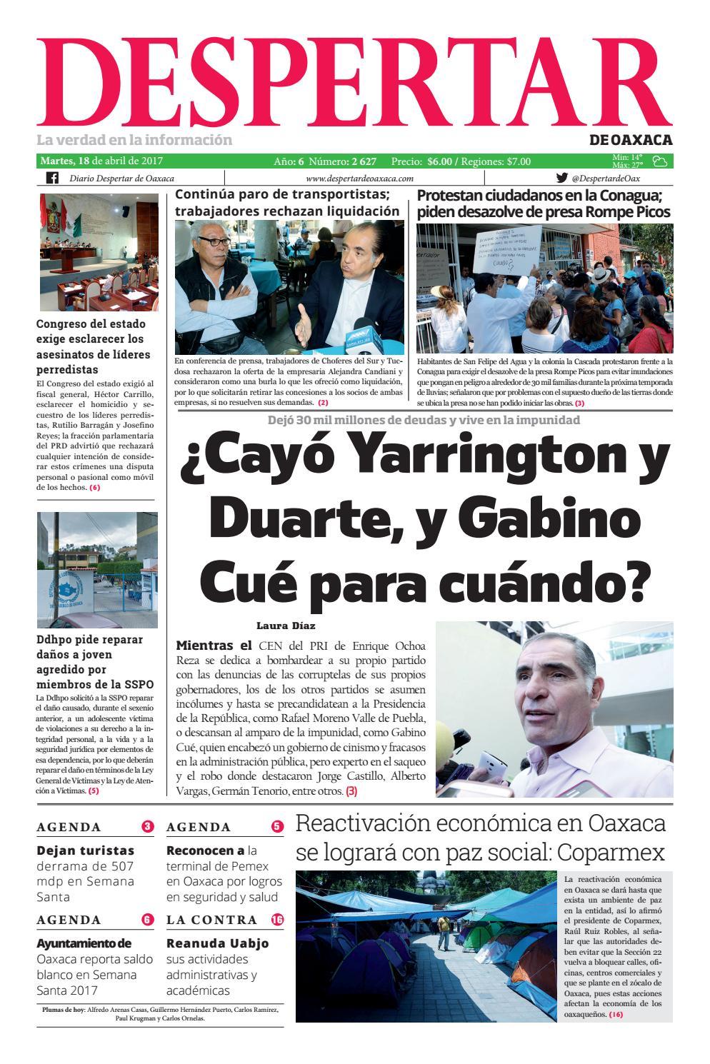 Despertar 18 de abril 2017 by Despertar de Oaxaca - issuu