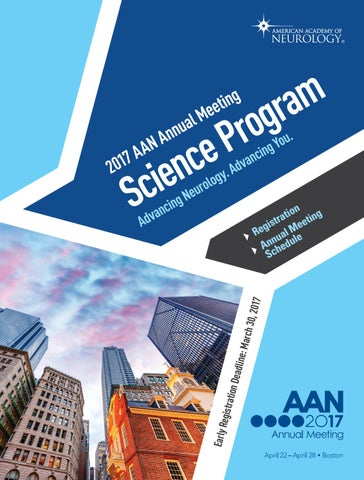 2017 AAN Annual Meeting Science Program by American Academy