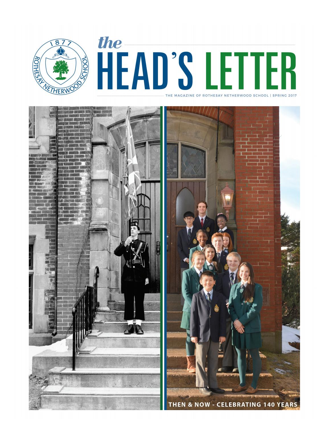 the head s letter then now celebrating 140 years by rothesay rh issuu com Instruction Manual Example Operators Manual