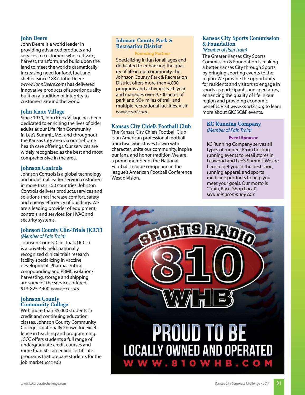 2017 Kansas City Corporate Challenge Magazine by JCPRD
