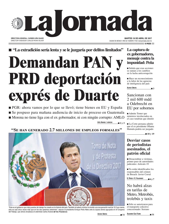 La Jornada 04 18 2017 By La Jornada Demos Desarrollo De Medios  # Muebles Goitia Tijuana