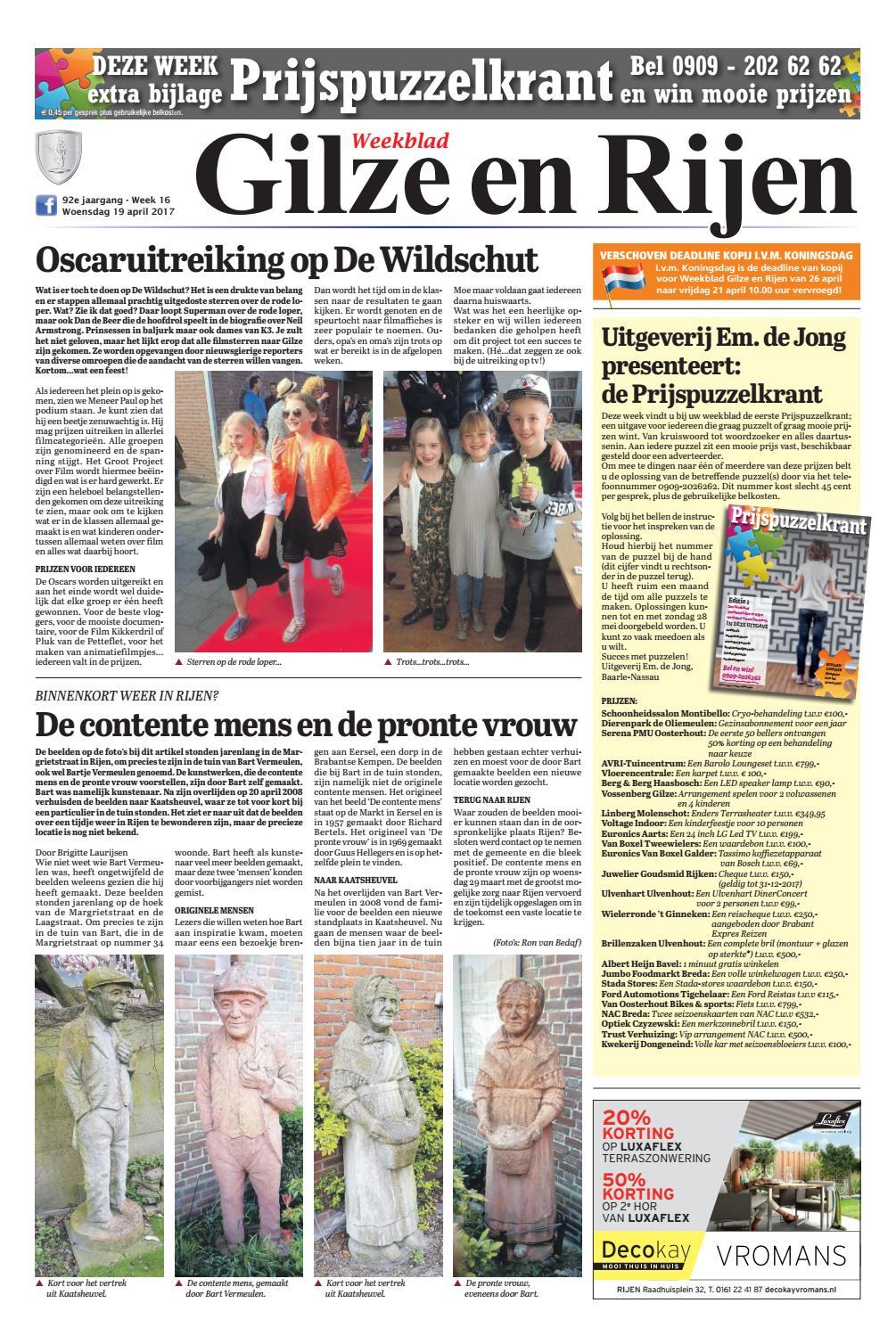 Dorst Glas En Slotenservice.Weekblad Gilze En Rijen 19 04 2017 By Uitgeverij Em De Jong Issuu