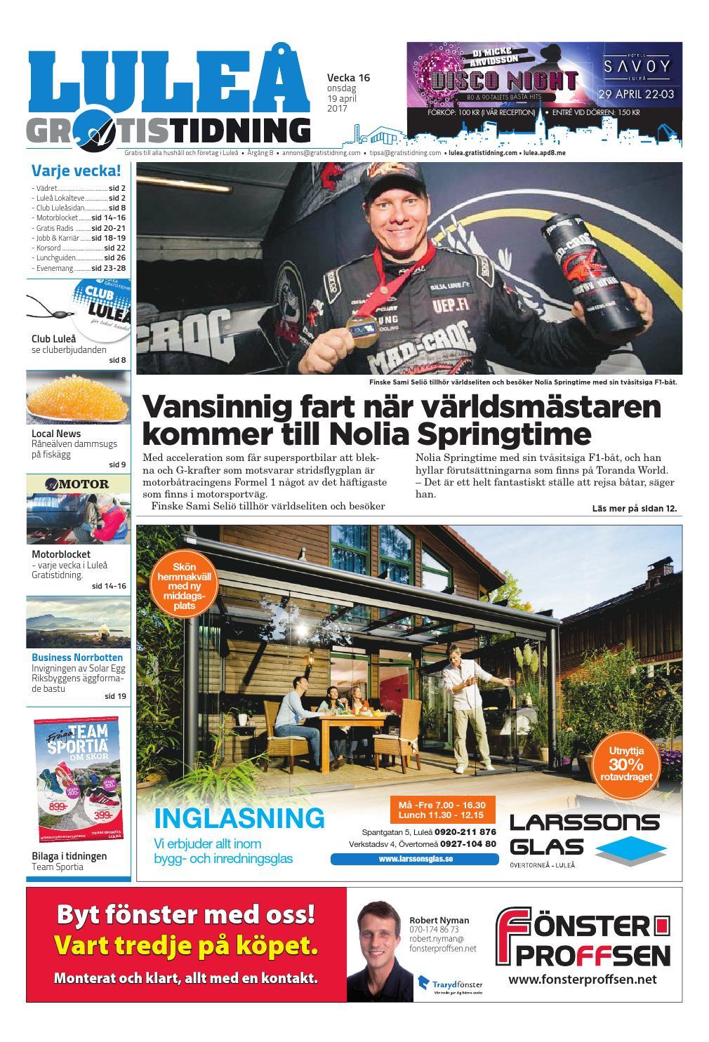 huge discount 0decc d3b91 Luleå Gratistidning med Team Sportia bilaga by Svenska Civildatalogerna AB  - issuu
