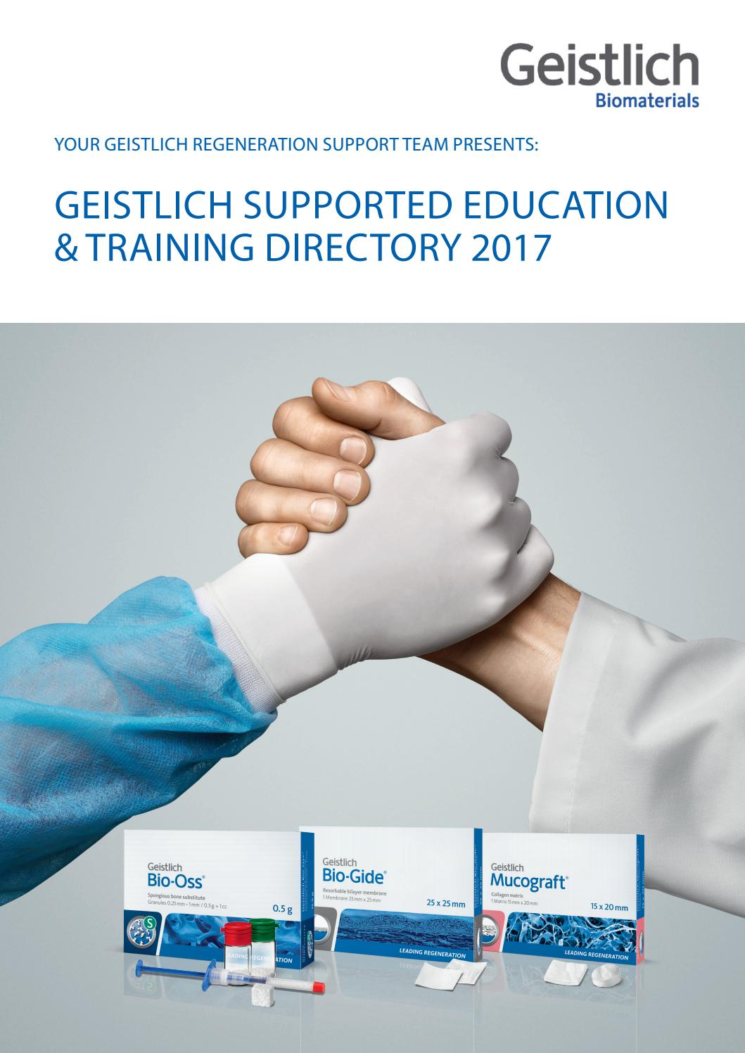 Geistlich Course Directory - April 2017 by Geistlich_Pharma - issuu