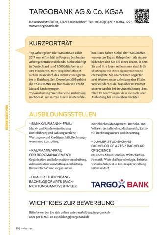 targobank ag co kgaa kasernenstrae 10 40213 dsseldorf tel 00490211 8984 1273 wwwtargobankde - Targobank Bewerbung