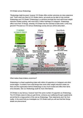 310 Shake Vs Shakeology Review By Ergoprime Issuu