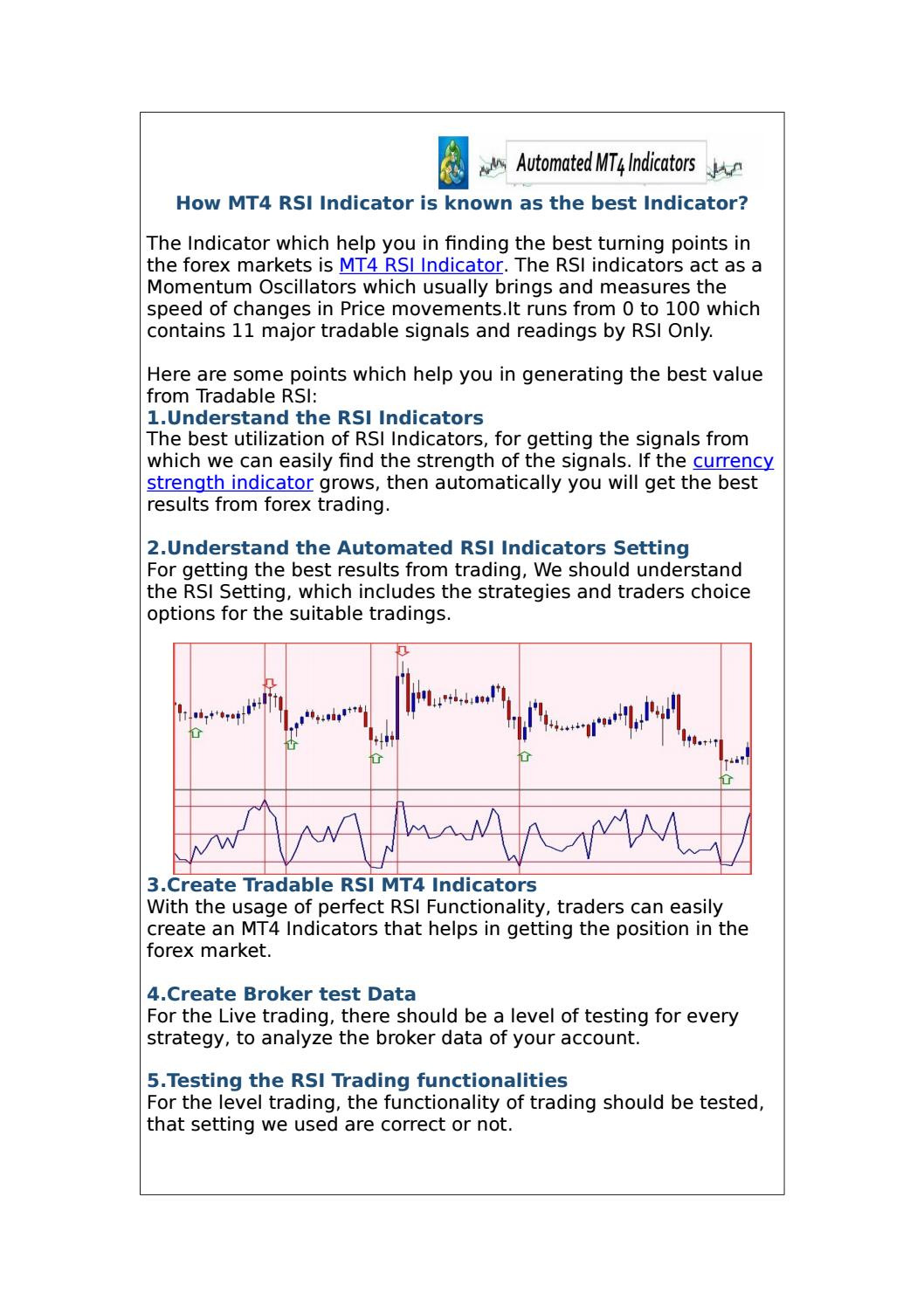 How the mt4 rsi indicator is the best indicators by George Smith - issuu
