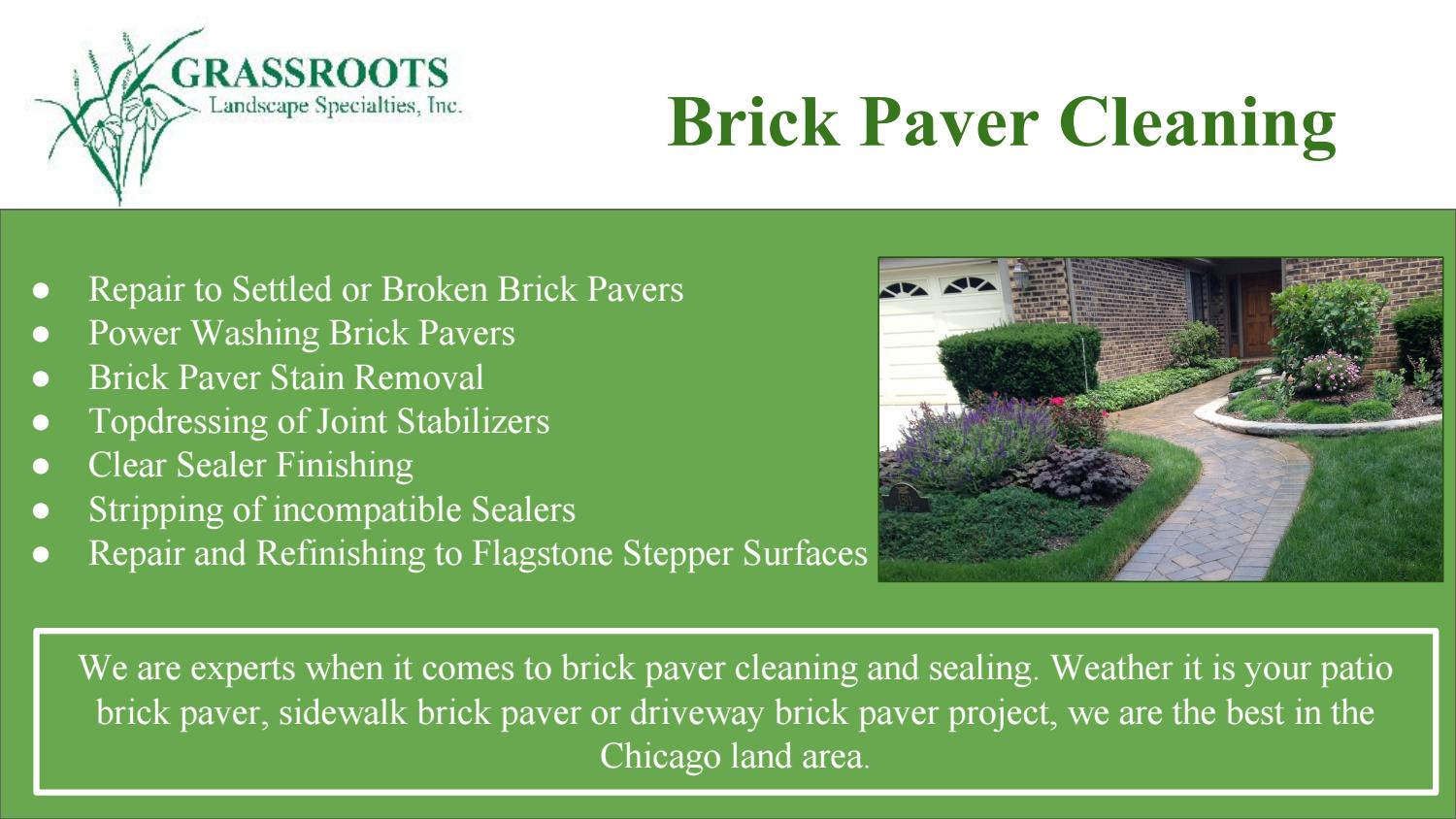 Brick Paver Cleaning and Sealing Company by grlandscapeservices - issuu