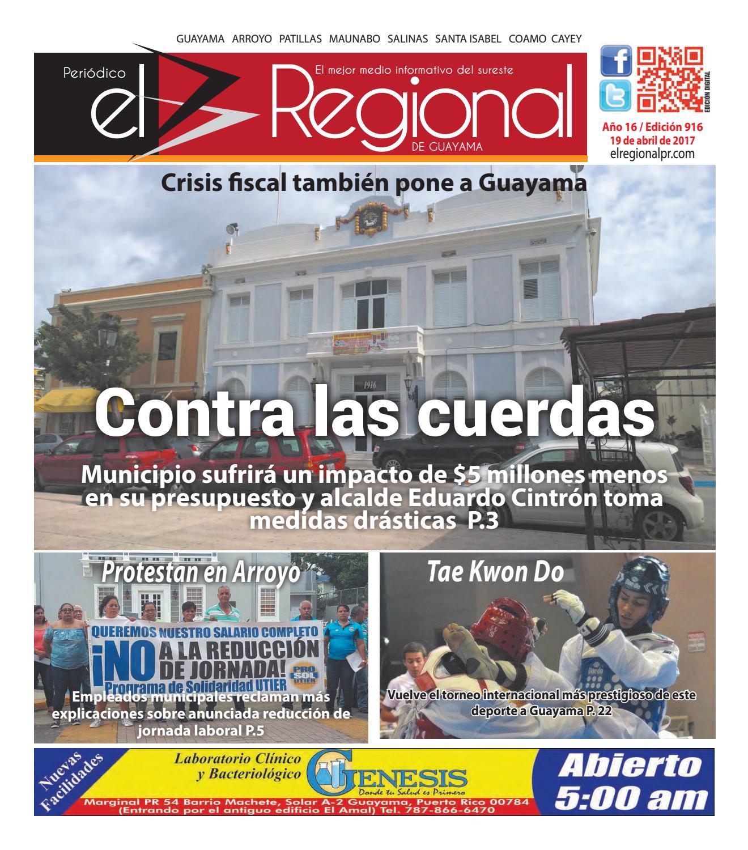 Peri Dico El Regional Edici N 916 By Peri Dico El Regional De  # Ahorro Muebles Cayey