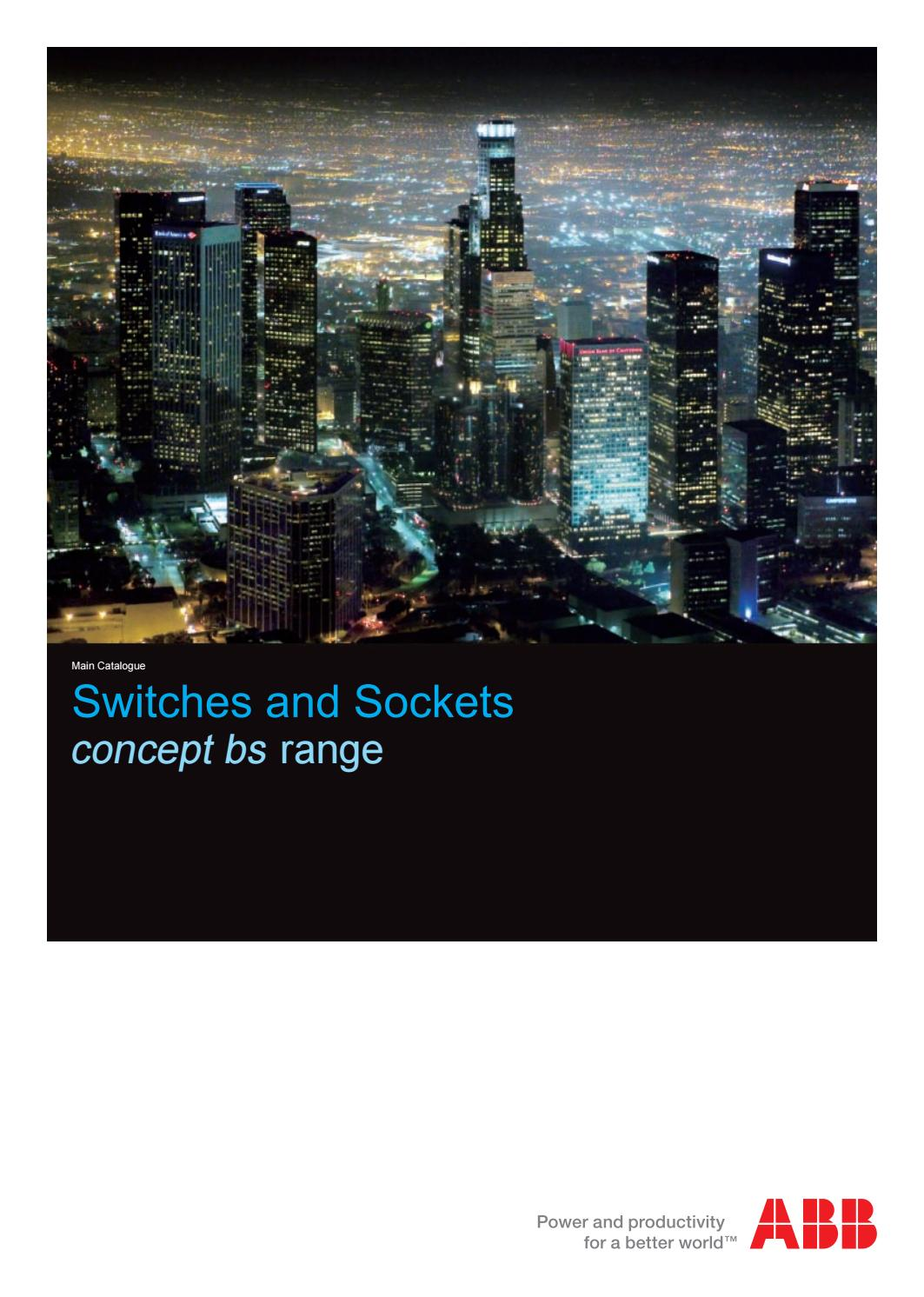 Abb Switches And Sockets Concept Bs Range By Sentor Electrical Issuu Triple Gang Switch Face