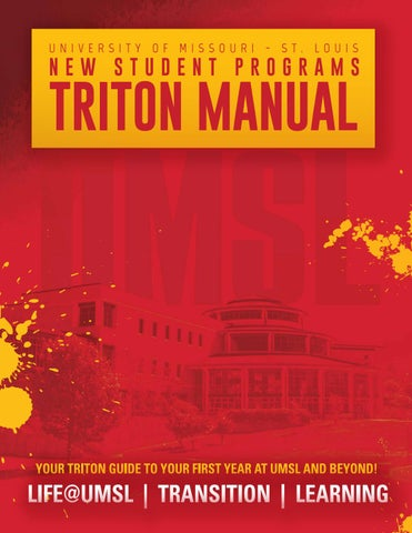 Umsl triton manual 2017 2018 new student programs by umsl campus page 1 publicscrutiny Image collections