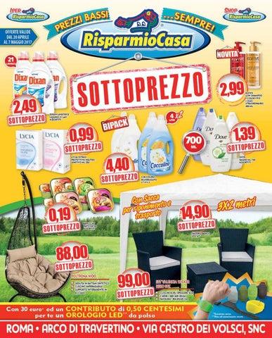 volantino risparmiocasa - aprile-maggio - roma arco di travertino