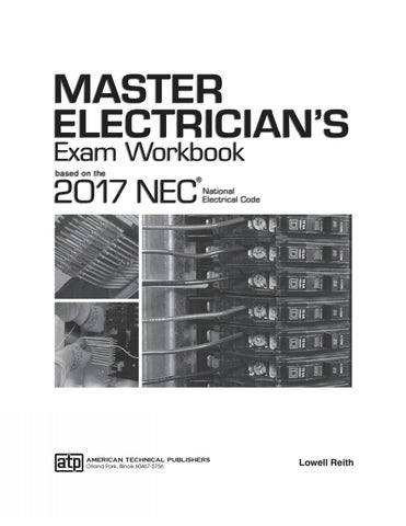 Master electricians exam workbook based on the 2017 nec by page 1 greentooth Images