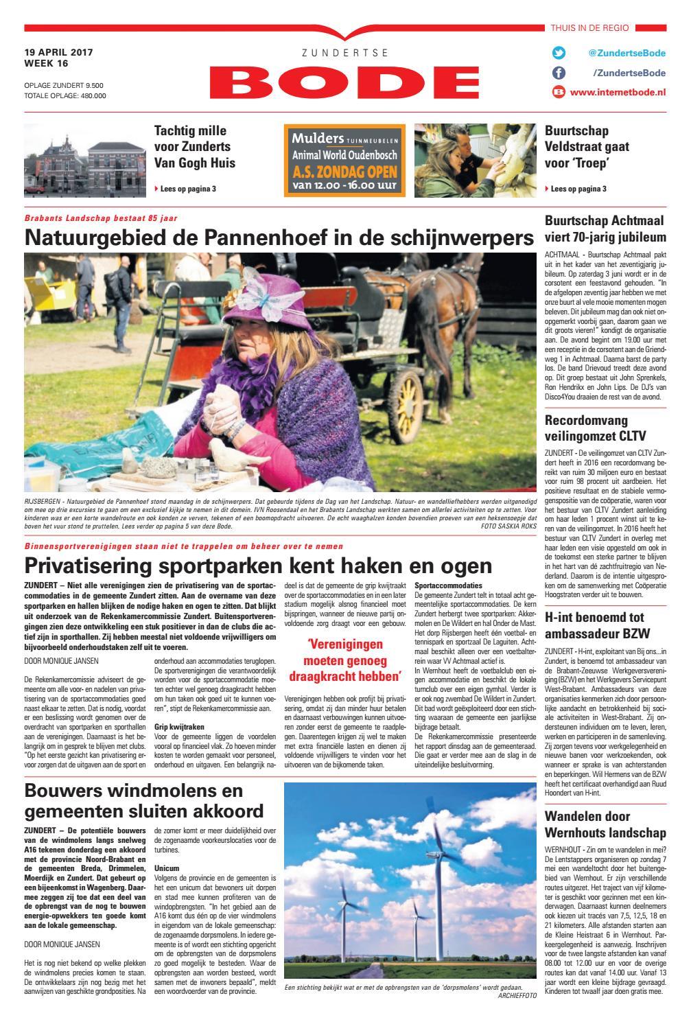 65613d19828 Zundertse Bode 19-04-2017 by Uitgeverij de Bode - issuu