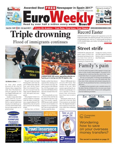 Euro weekly news costa de almeria 20 26 april 2017 issue 1659 by page 1 fandeluxe Images
