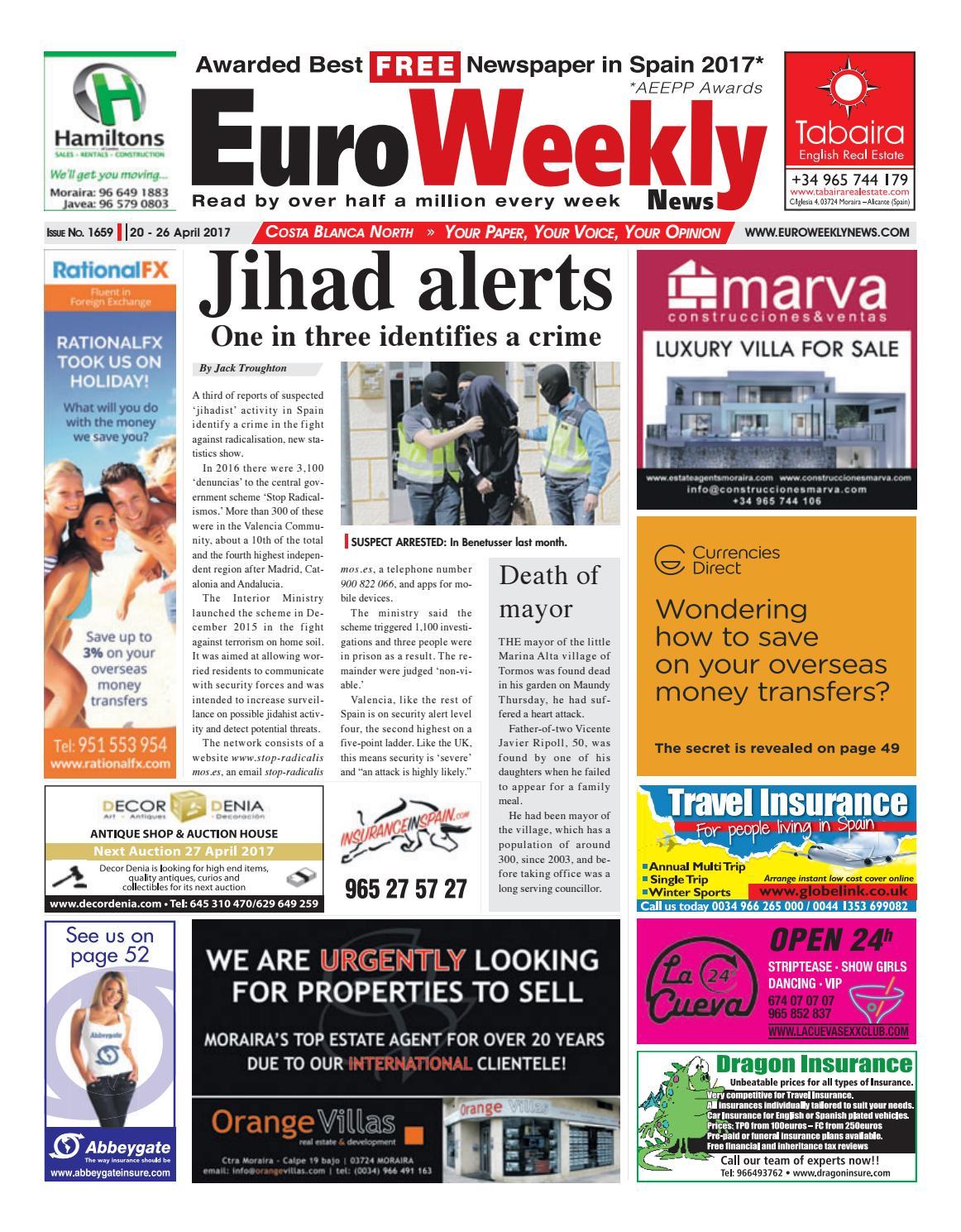 Euro Weekly News Costa Blanca North 20 26 April 2017