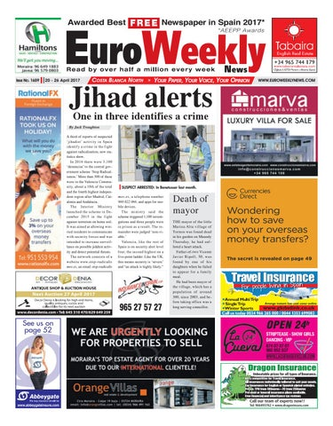 45ac51aa901 Euro Weekly News - Costa Blanca North 20 - 26 April 2017 Issue 1659 ...