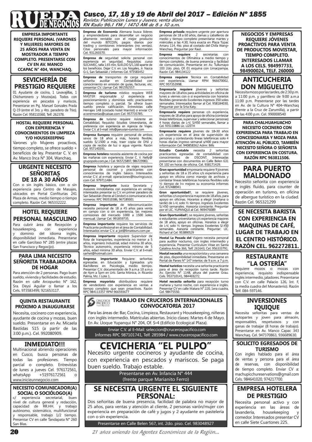 Edición 1855 by Rueda de Negocios - issuu