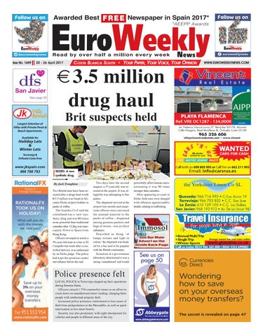 Costa Blanca South 20 26 April 2017 Issue 1659 By Euro