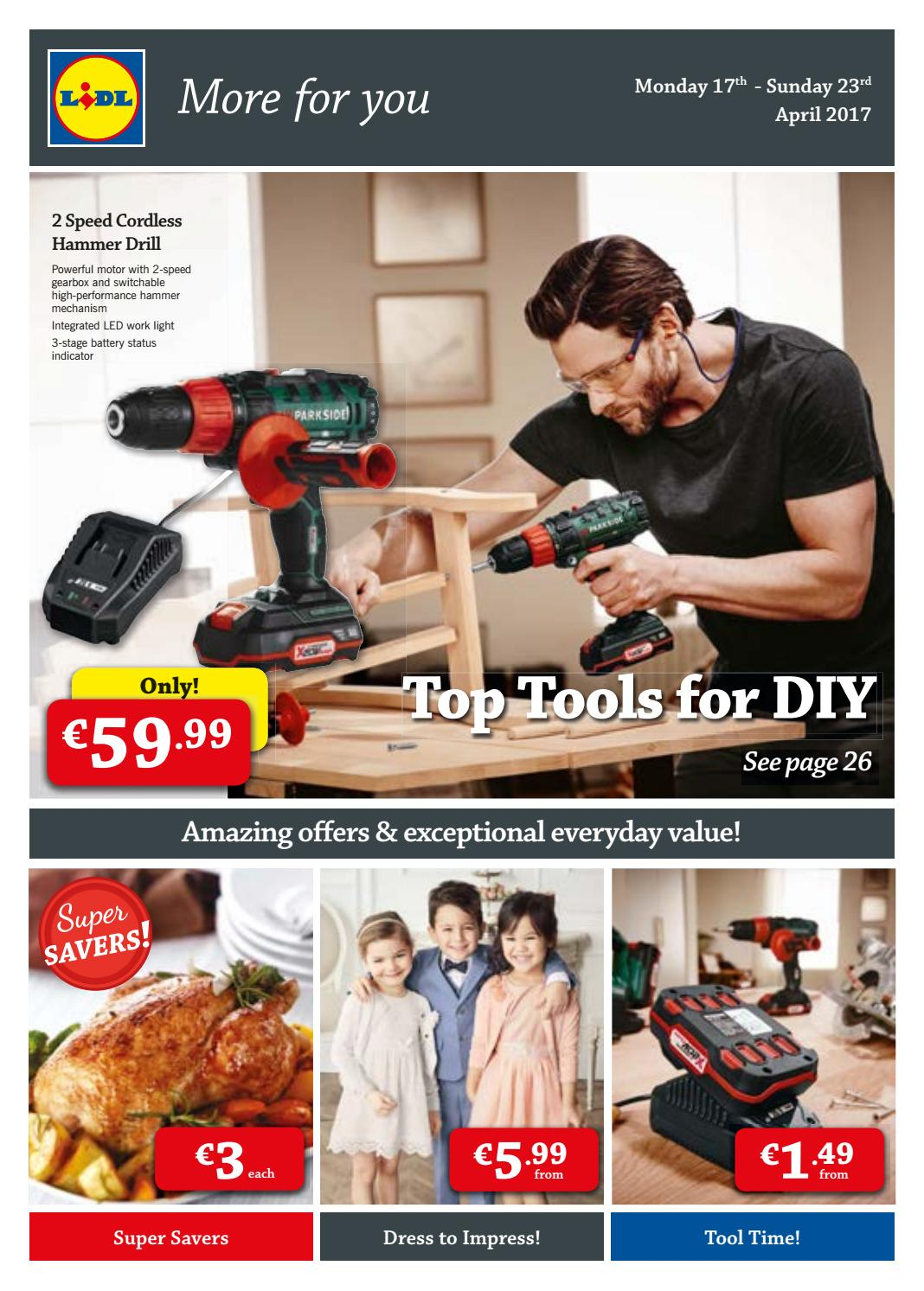 offers valid from 17 04 2017 top tools for diy lidl ie by. Black Bedroom Furniture Sets. Home Design Ideas