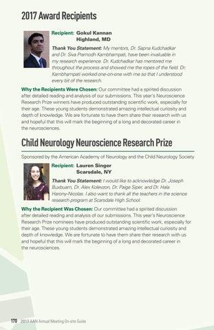 Why Child Neurology