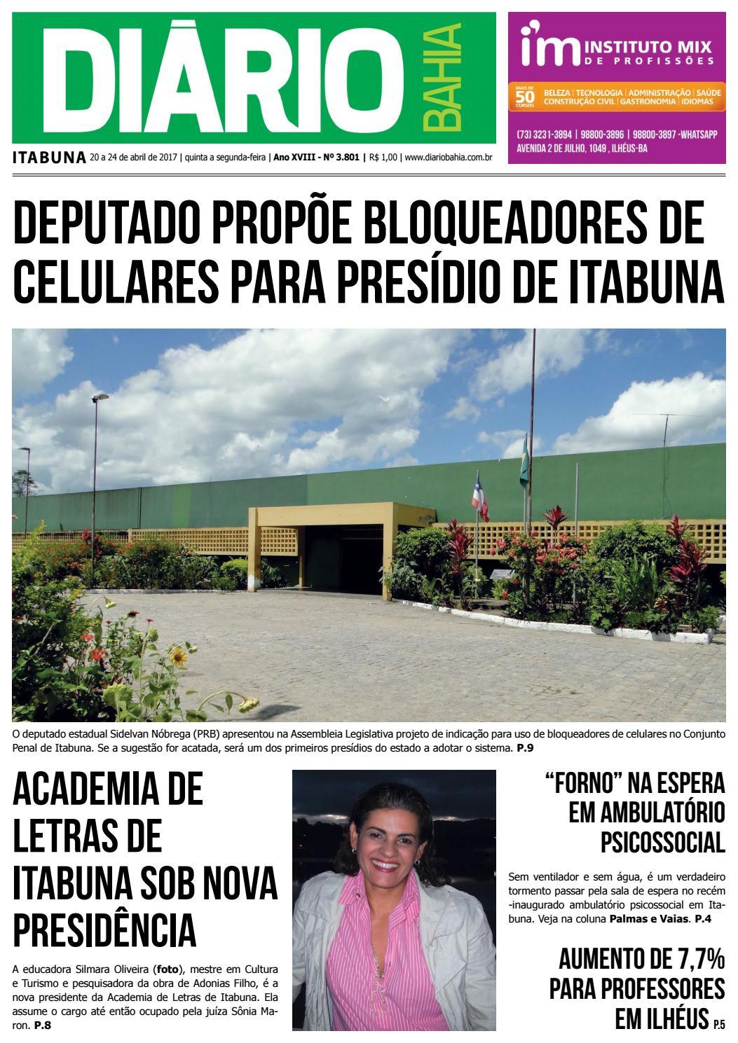Diário 3 801 fim de semana 20 a 24 de abril de 2017 by Redacao DiarioBahia  - issuu 78c7d1b9c5
