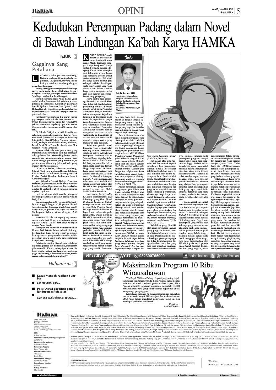 Haluan 20 April 20 by Harian Haluan   issuu