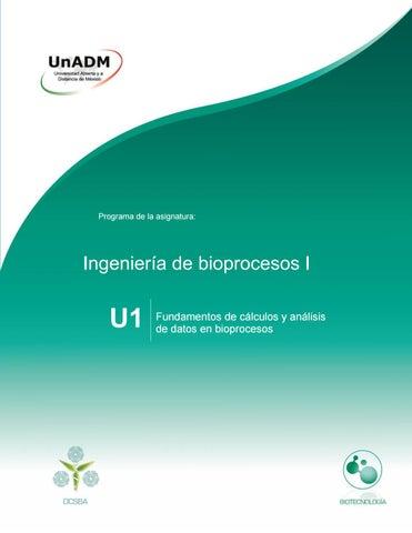 Unidad 1. Fundamentos de cálculos y análisis de datos en bioprocesos ...