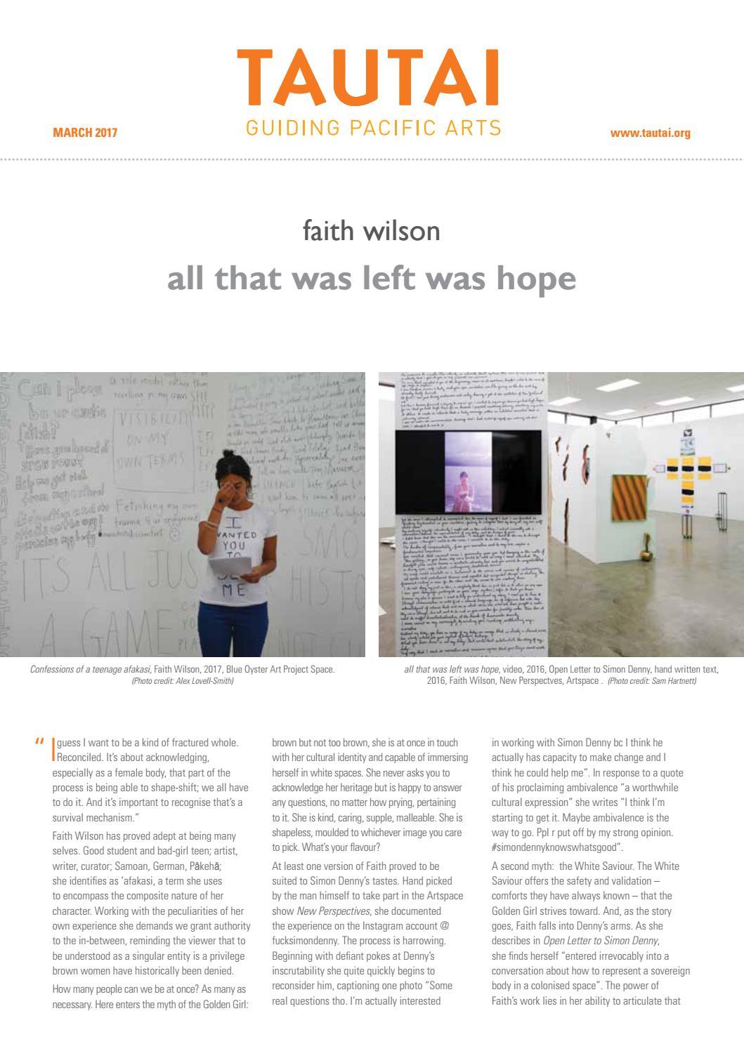 Tautai newsletter mar 2017 web by Tautai Pacific Arts Trust - issuu