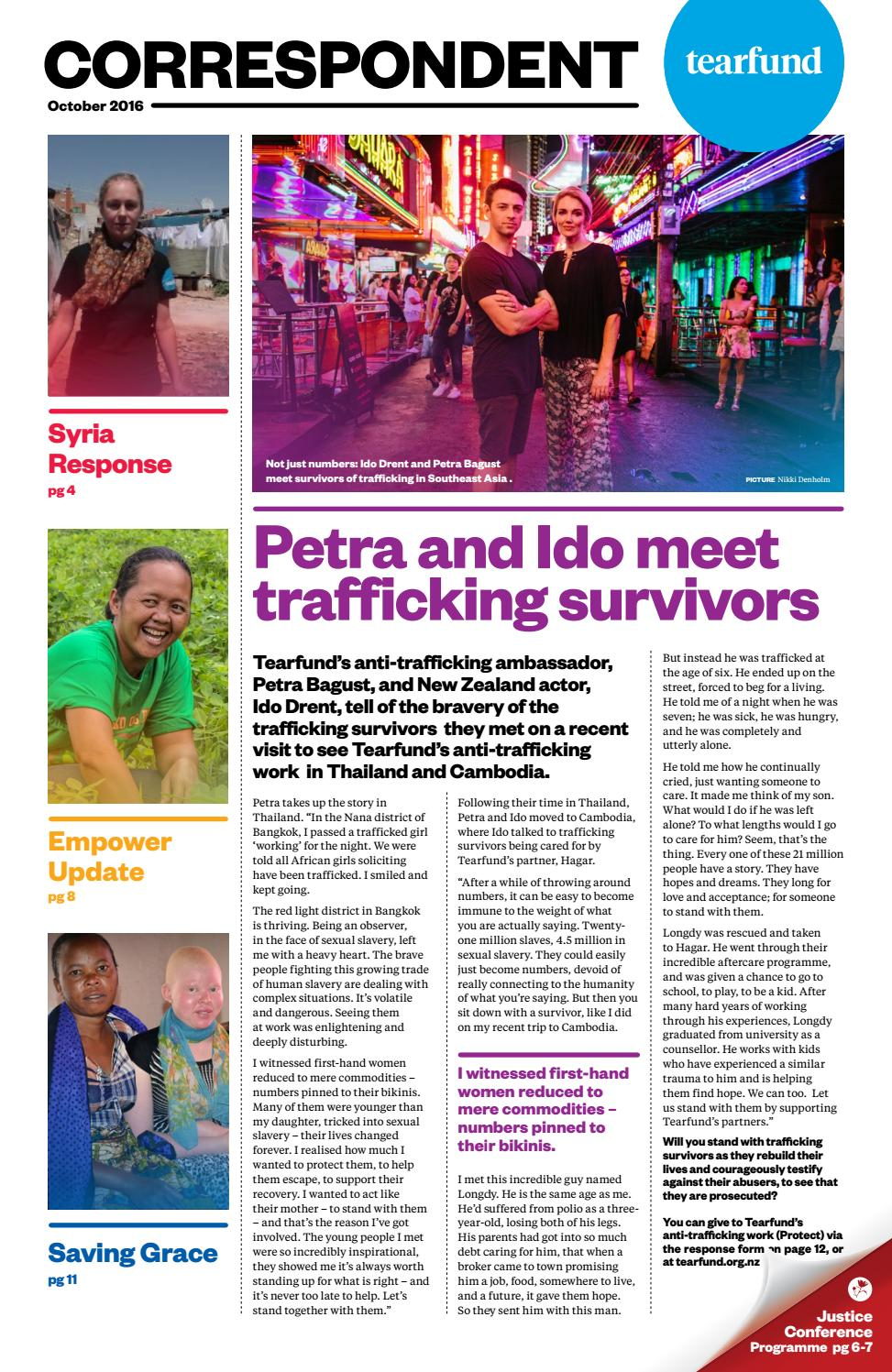 Tearfund October Issuu Nz By Correspondent 2016 l15T3KJuFc