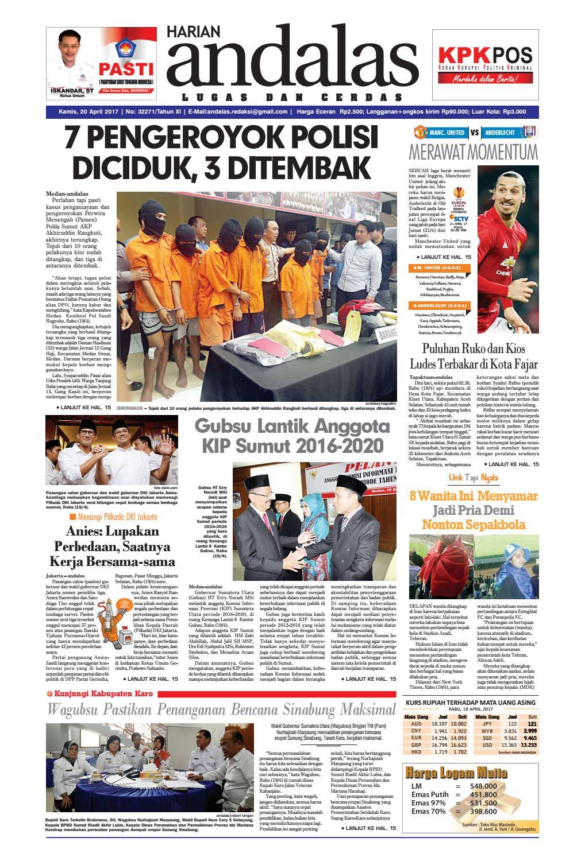 Epaper Andalas Edisi Kamis 20 April 2017 By Media Issuu Fcenter Meja Belajar Sd Hk 9004 Sh Jawa Tengah