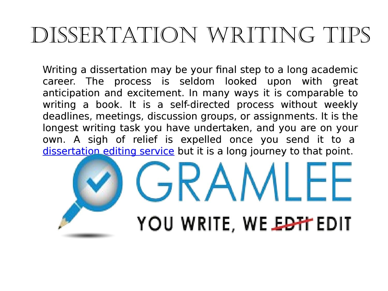 dissertation editing editors