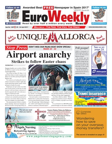 Euro weekly news mallorca 20 26 april 2017 issue 1659 by euro page 1 fandeluxe Image collections