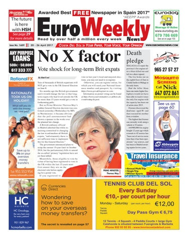 Euro Weekly News Costa Del Sol 20 26 April 2017 Issue 1659 By