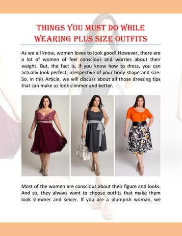 Things You Must Do While Wearing Plus Size Outfits By Lurap Fashion