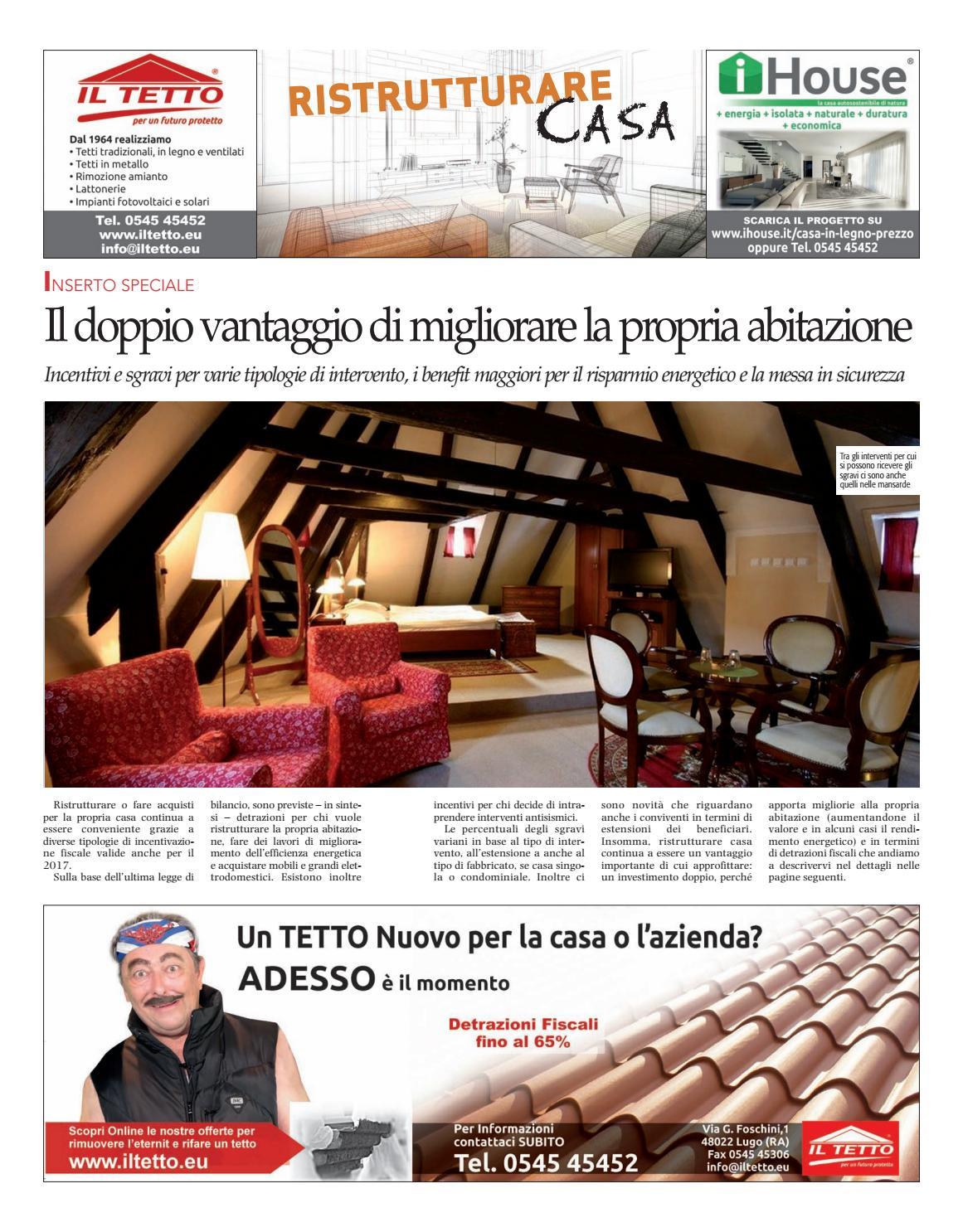 Detrazione Tinteggiatura Interna 2016 inserto ristrutturare casa rd 13 04 17 by reclam edizioni e