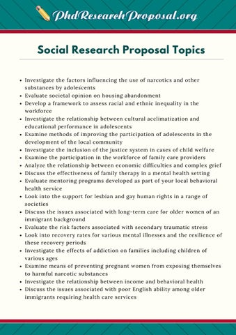 research topic list