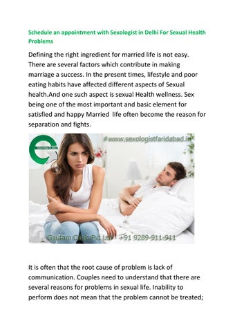 Causes of sexual problems in marriage
